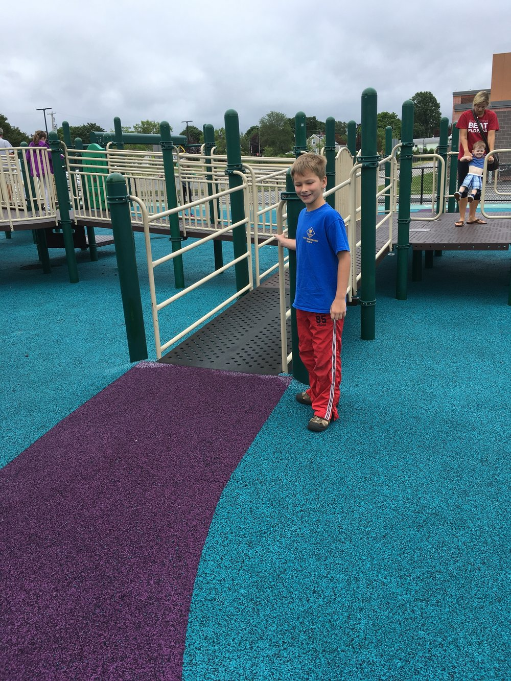 Tyler was impressed with the extensive ramp system.