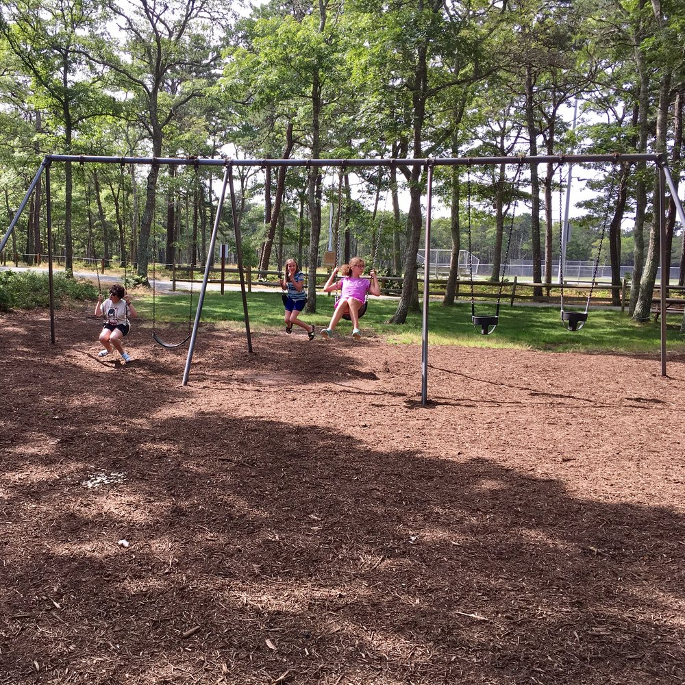 The kids really liked the old fashioned swings. Jacob said that he felt like he was flying.