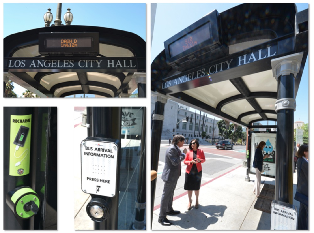 LA Connected Bus Shelters, Powered by Sync Wayside Signage
