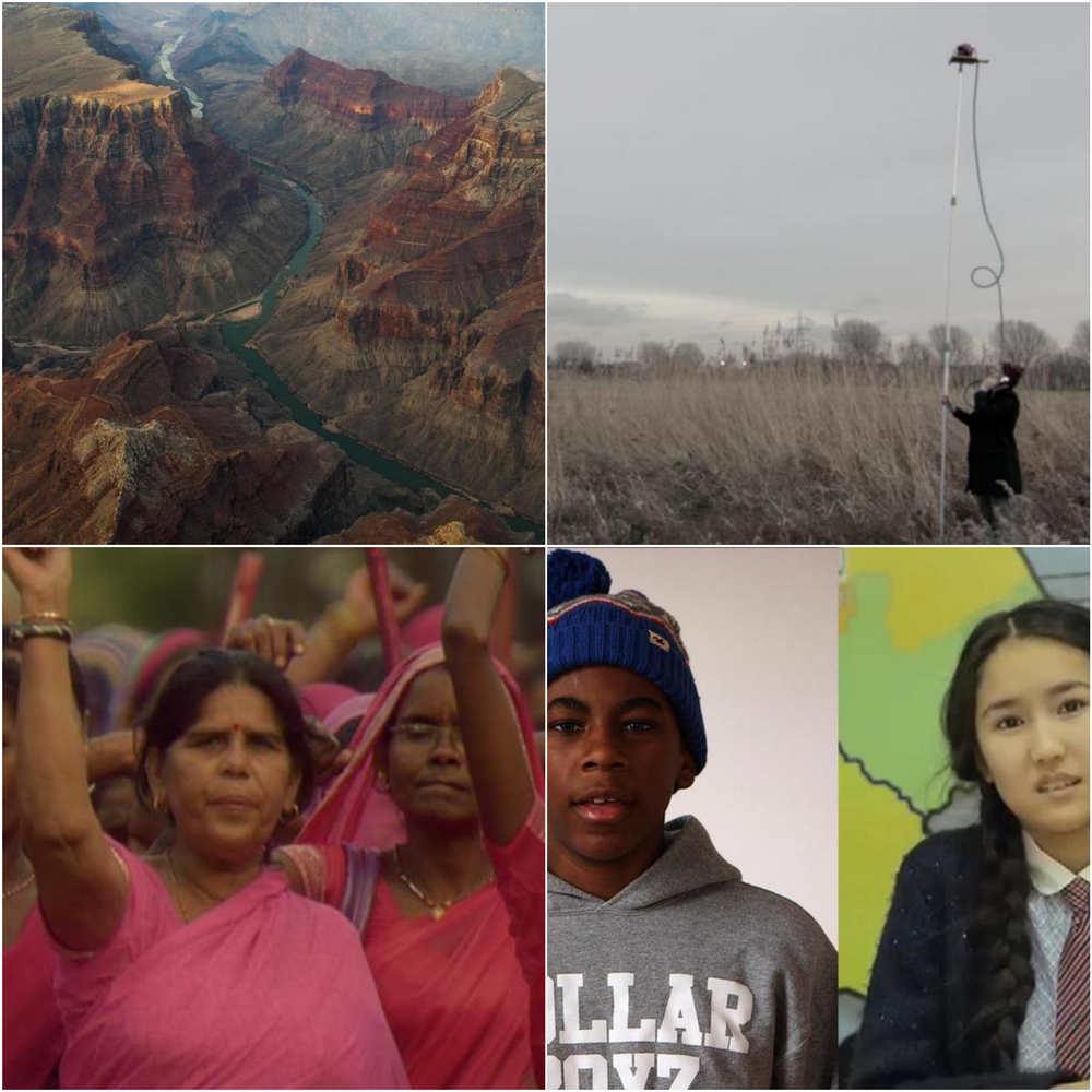 Friday night's films include Leave It As It Is (top left); The Re-Invention of Normal (top right); We Are Fire (bottom left); and The World Is As Big Or As Small As You Make It (bottom right).