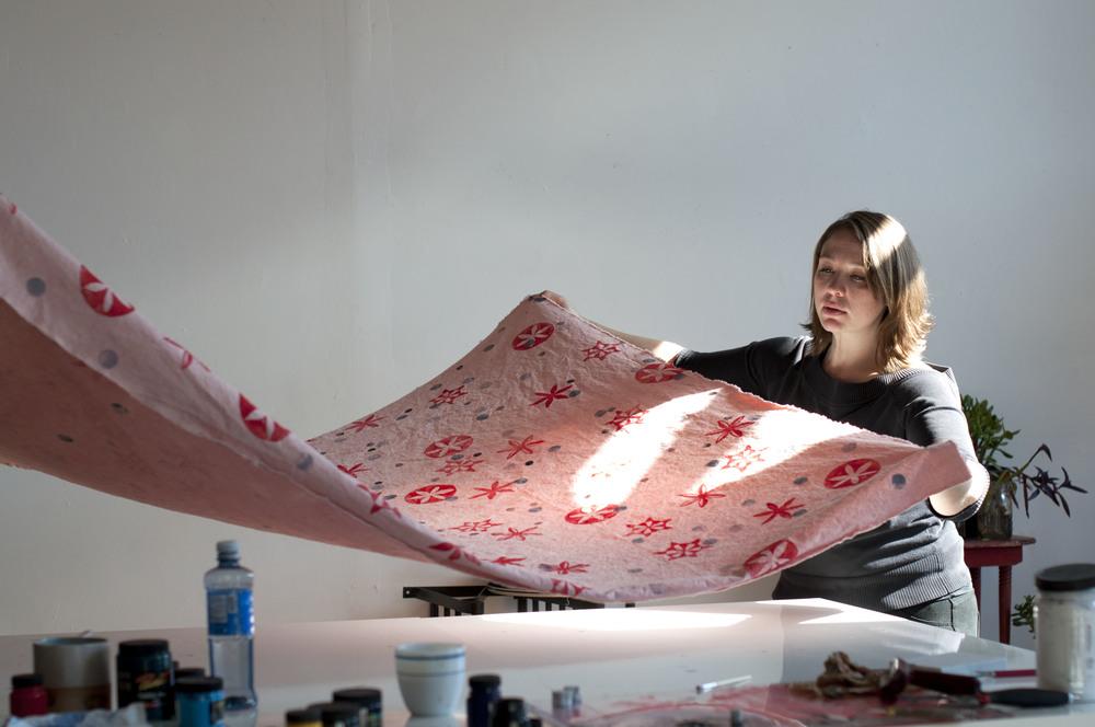 trouvé magazine fraktur textile print