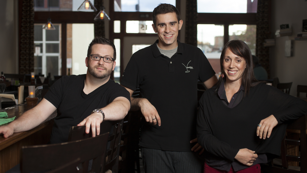 LEFT: Owner/Chef Joshua Dalton CENTER: Chef Silas Caeton RIGHT: Bar Director Nicole Hollerman