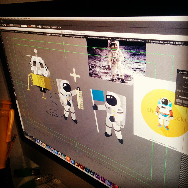 The final characters for our latest animated project! #space #astronaut