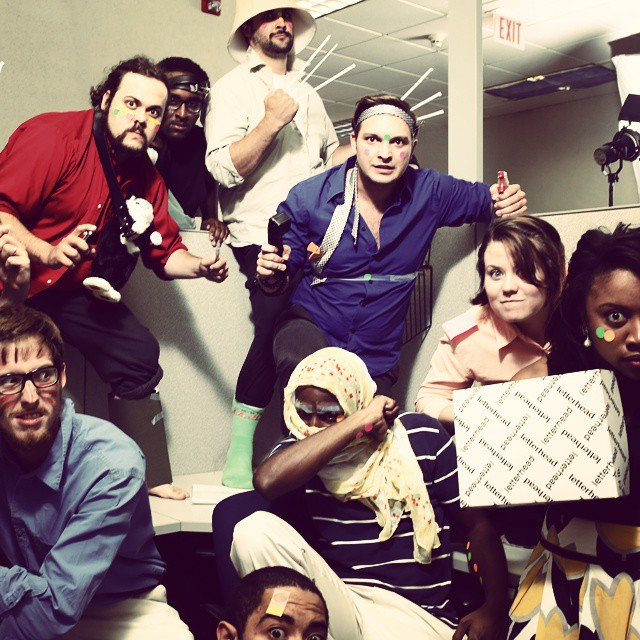 #tbt to that time a bunch of actors agreed to be post apocalyptic office workers for us