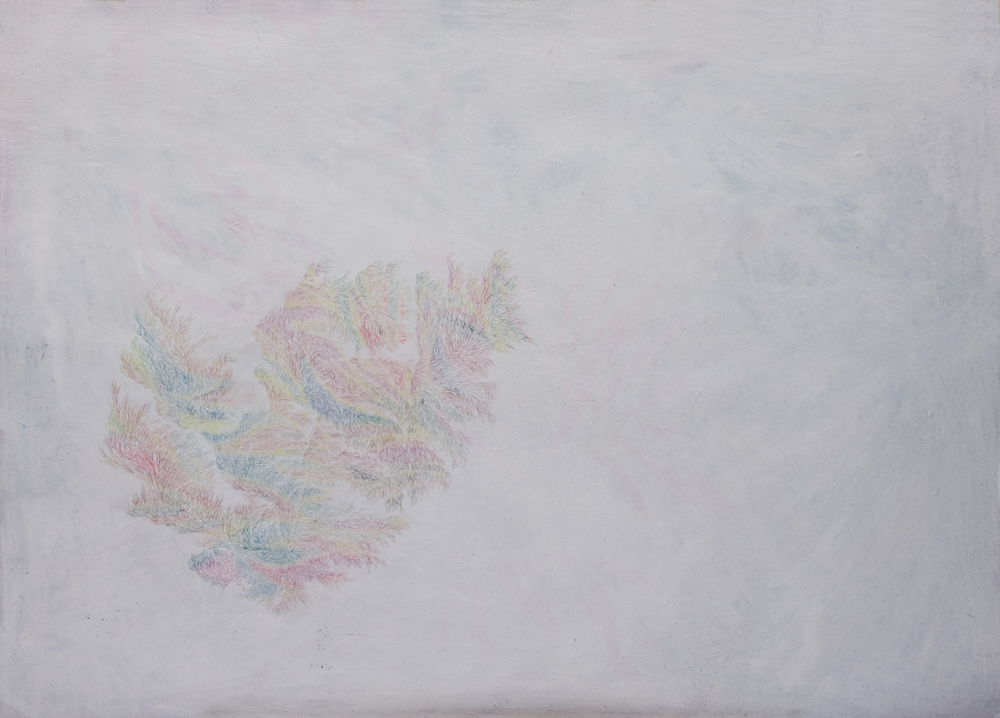 Pastels on Paper, Oil on Needle, 2014 59.4 x 84 cm