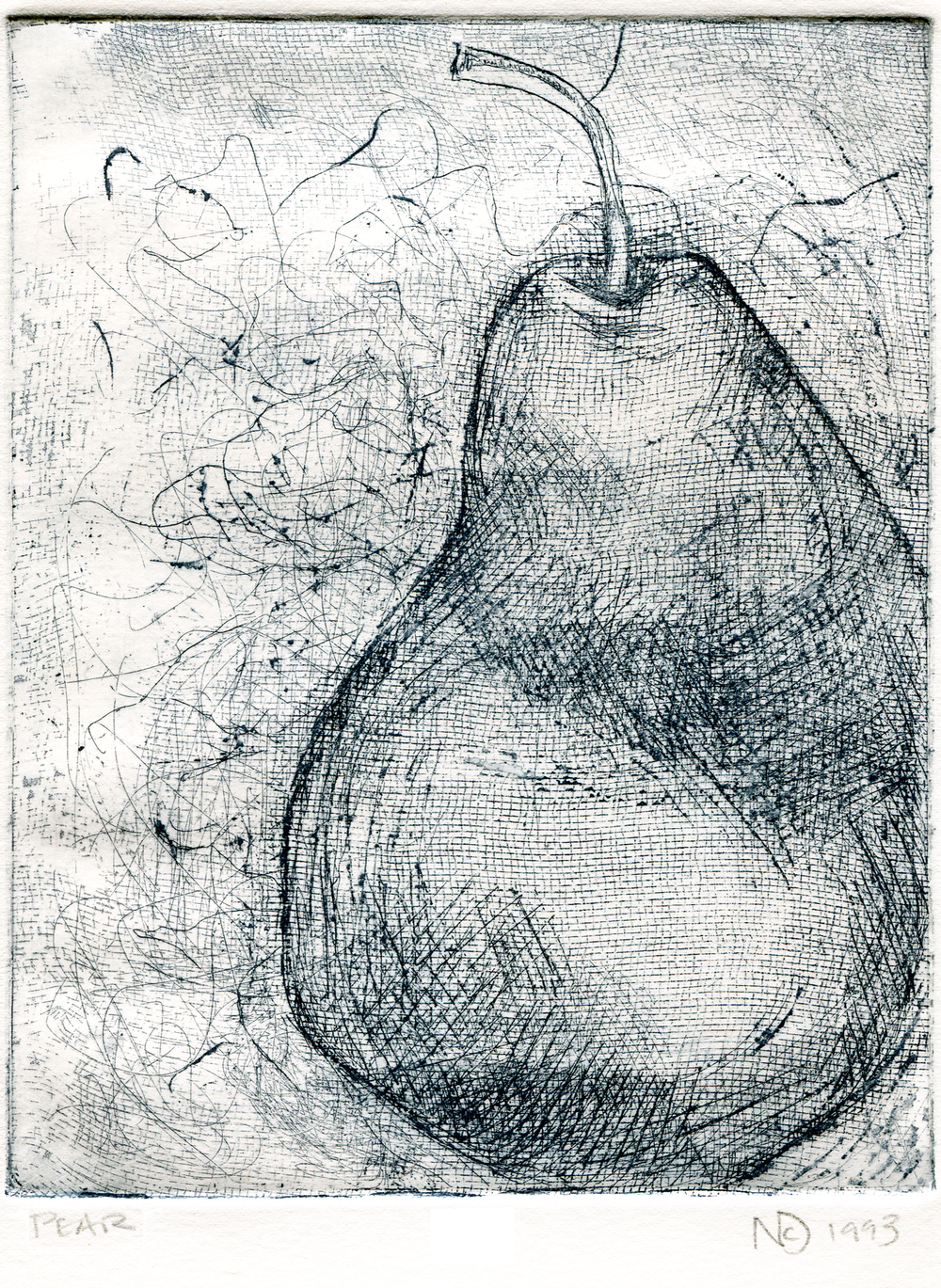Pear. 1993. Soft ground etching. -