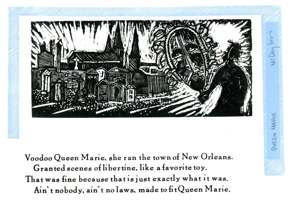 Queen Marie. 2003. Wood engraving and Letterpress. -