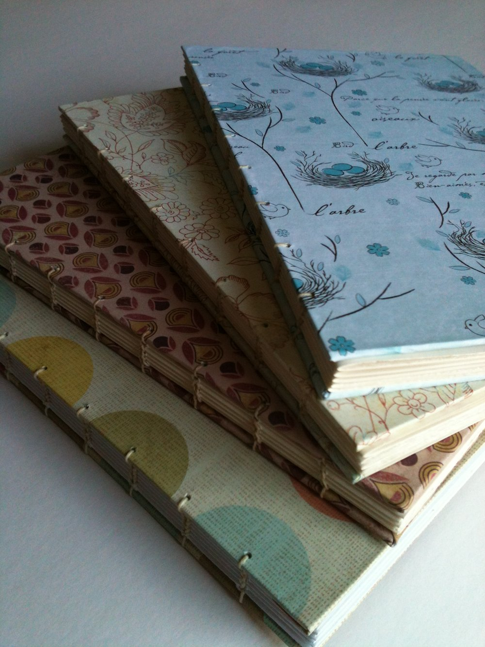 Hand Bound books. -