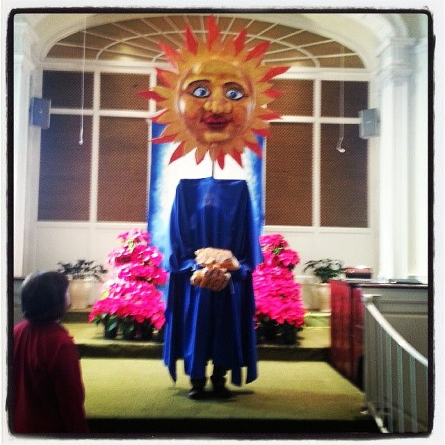 Epiphany Presbyterian Solstice Performance. Paper puppets. 2013. -