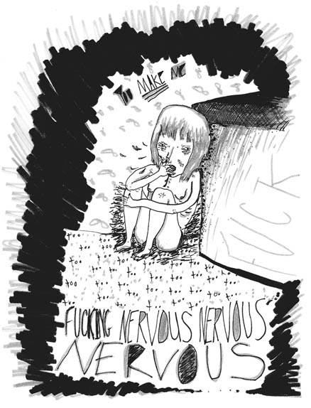 nervous nervous nervous submission for a cool zine about ocd&anxiety   ( yes, its for dear old philip dearest)