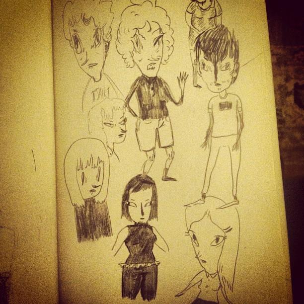 #sketchbook #pencil #people #art #fart