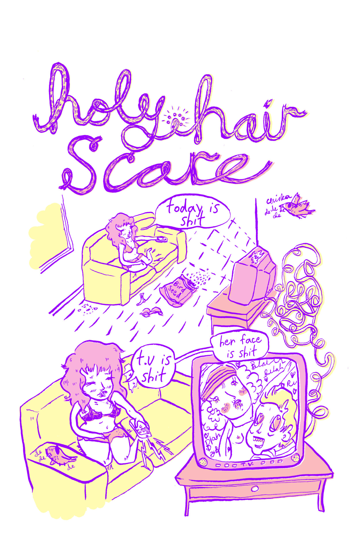 pretty colored version of holy hair scare pg 1