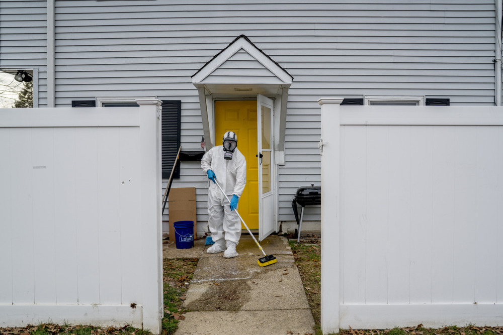 Murder scene cleanup, West Babylon, NY
