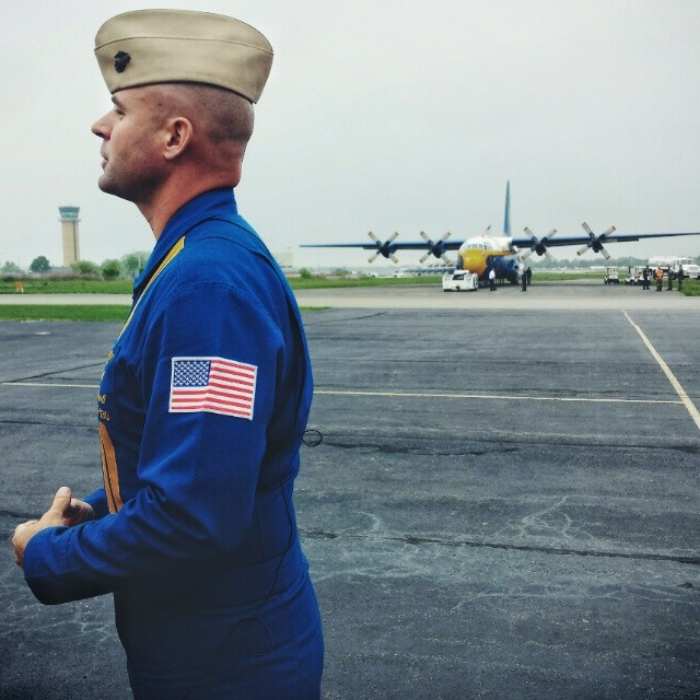 Cpt. A.J. Harrell, Fat Albert pilot, just before takeoff.