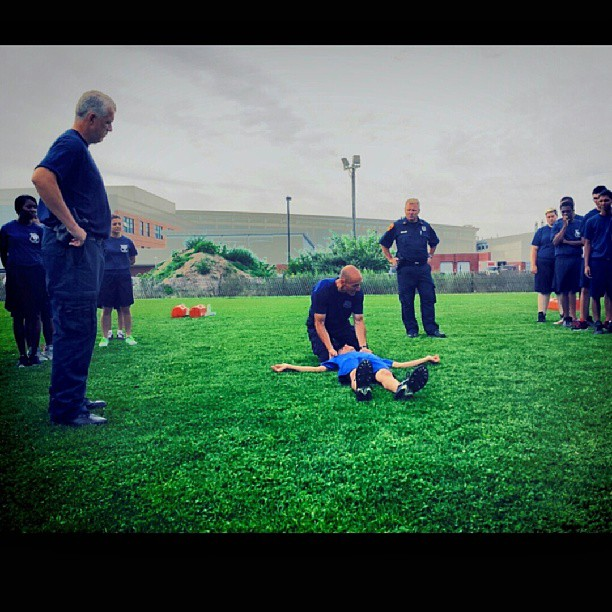 SCPD Youth Academy practice drills