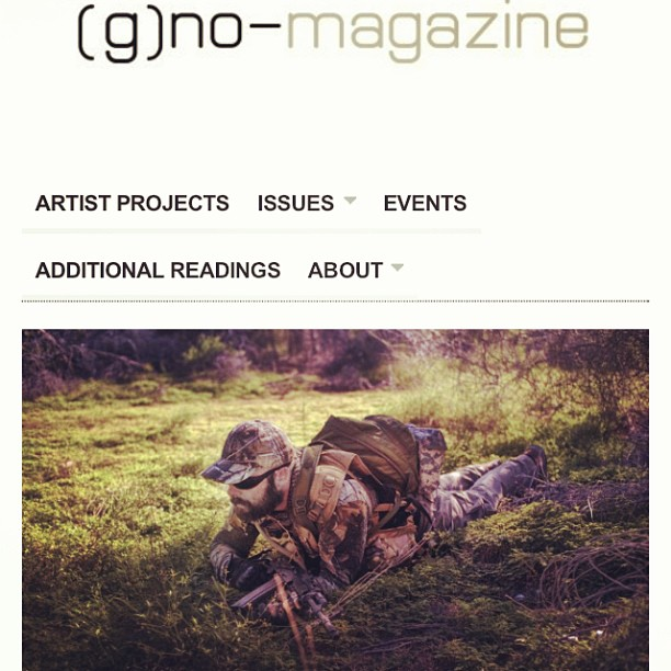 Yo! My work with the NSM border guard unit in Arizona is up at [g]no-magazine!