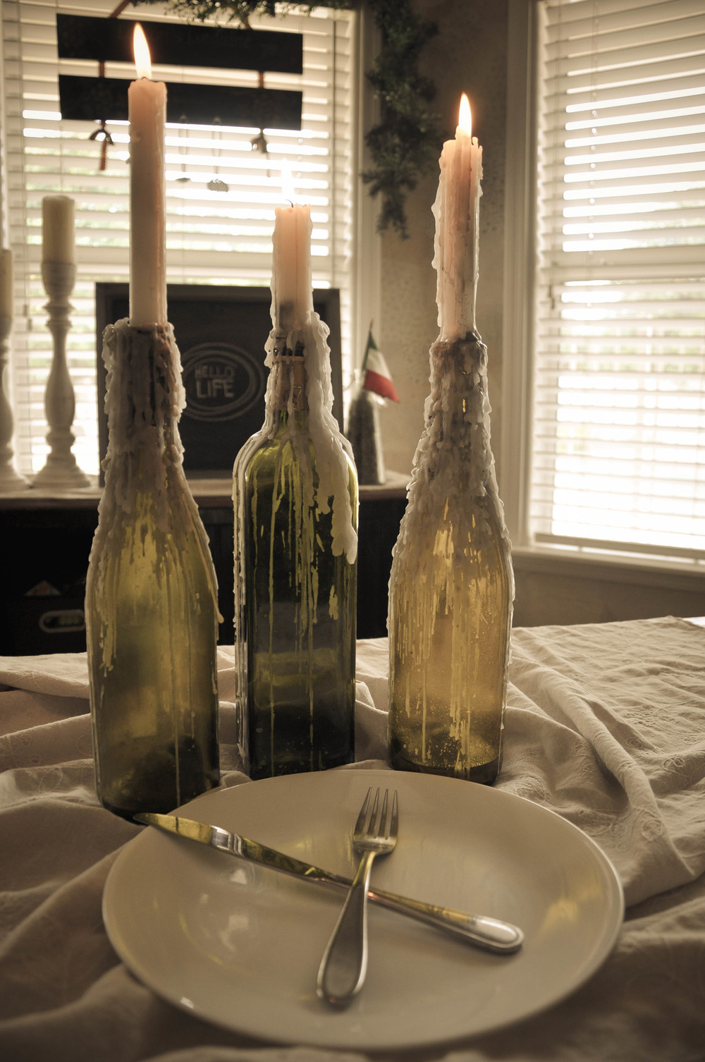 diy wine bottle candle holders the copper anchor