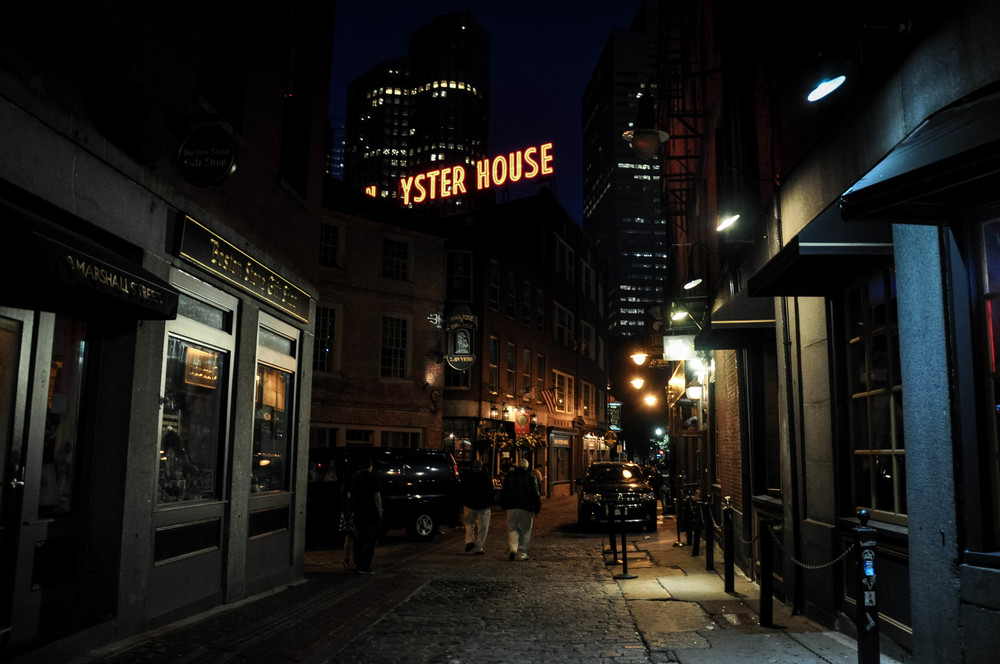 The Copper Anchor Boston at night
