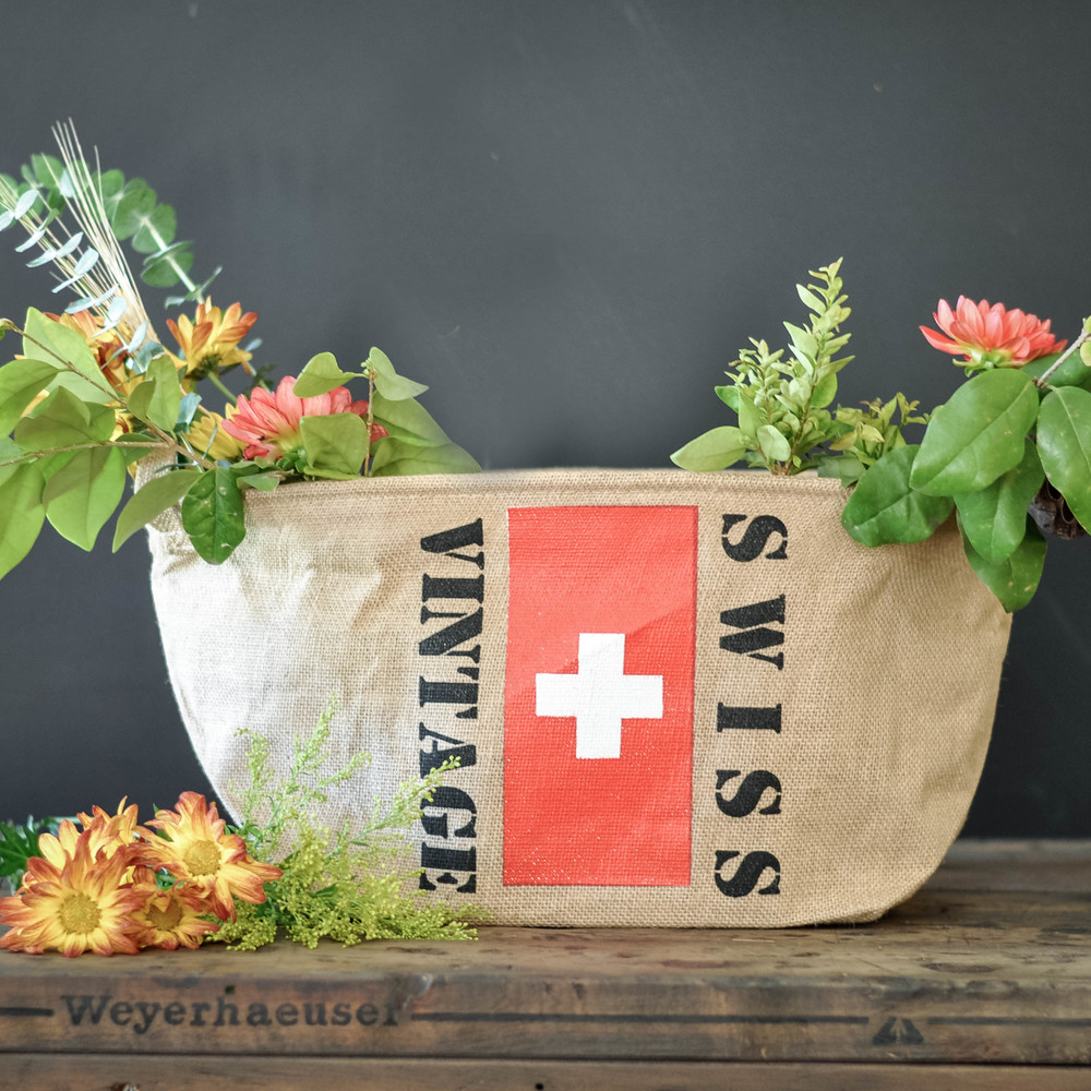 Vintage Swiss Basket by The Copper Anchor & Co.