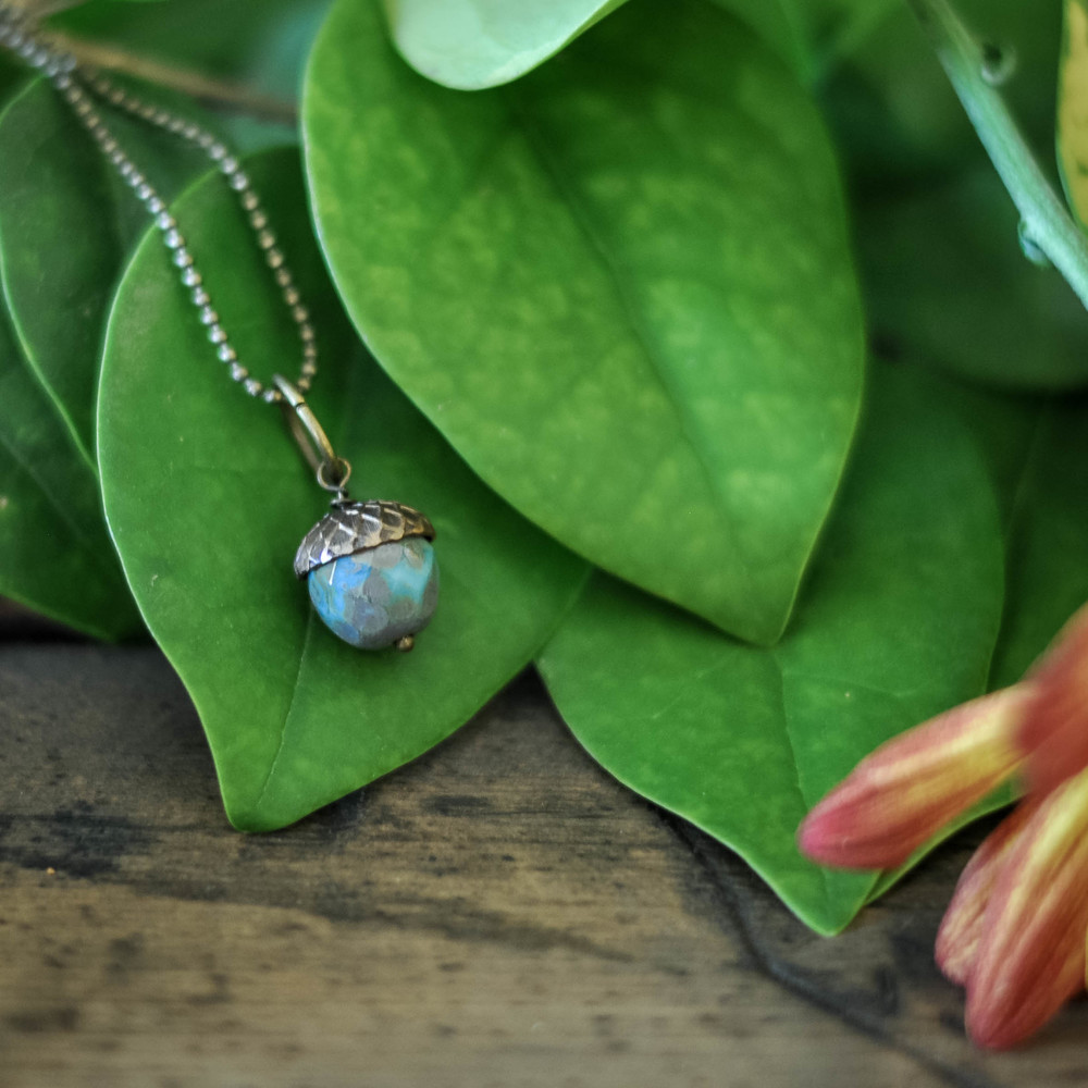 Acorn Necklace by The Copper Anchor