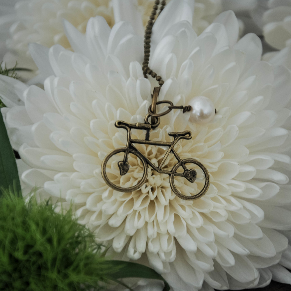 Bike Necklace by The Copper Anchor