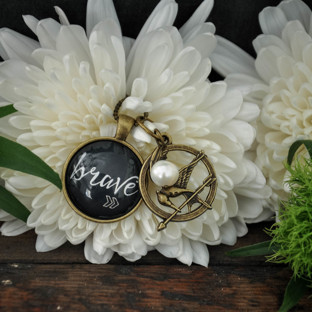 Katniss Brave Necklace by The Copper Anchor