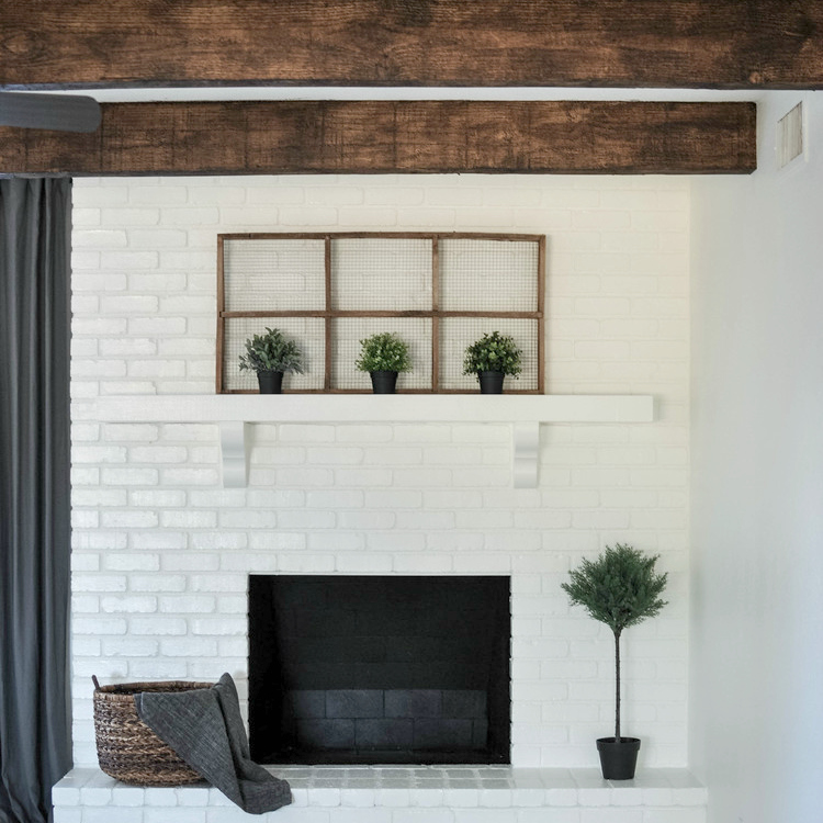 Living Room Ceiling Beams