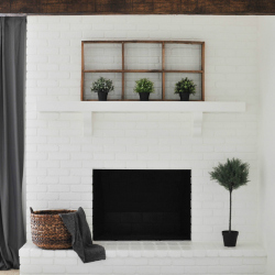 HOW TO PAINT YOUR BRICK FIREPLACE