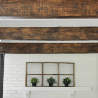 PAINTED FAUX-WOOD BEAMS