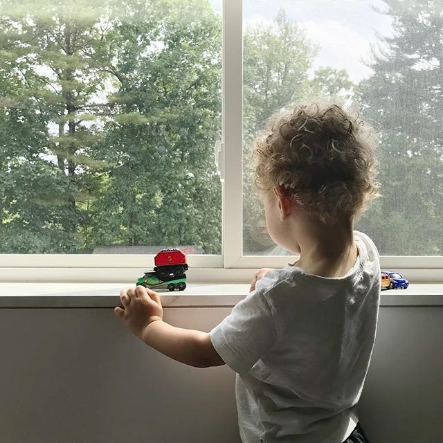 "I love the way he loves his ""woo-woos"" ( cars + trains + trucks) ♥️"