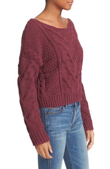 Free People Burgundy Sweater - Nordstrom
