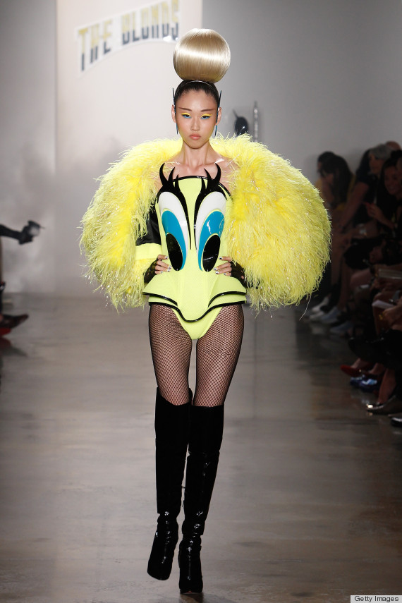 See yourself in this?  Circa 2013 - Outrageous Fashion at NYFW - check out Huffington Post for more