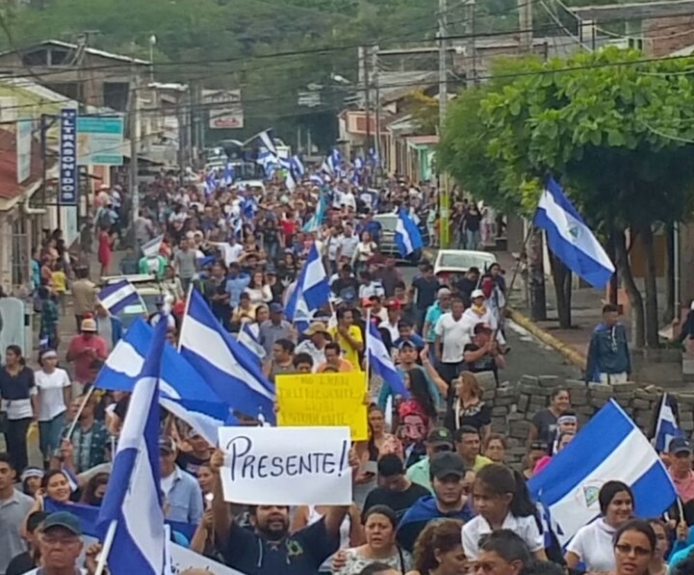 Protests in the city of Matagalpa, Nicaragua.