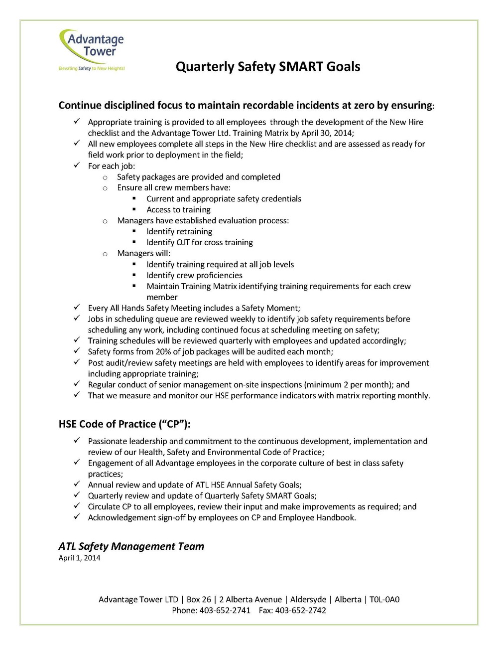 ATL Quarterly Safety SMART Goals April 1 2014.jpg
