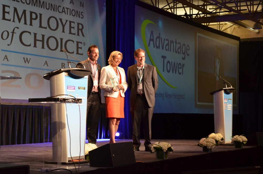 Featured Left to Right: Martin Gelinas, Principal Investor, Advantage Tower, Allison Earl, President and CEO, Advantage Tower and Jeff Doran, President, CCEOC Inc.