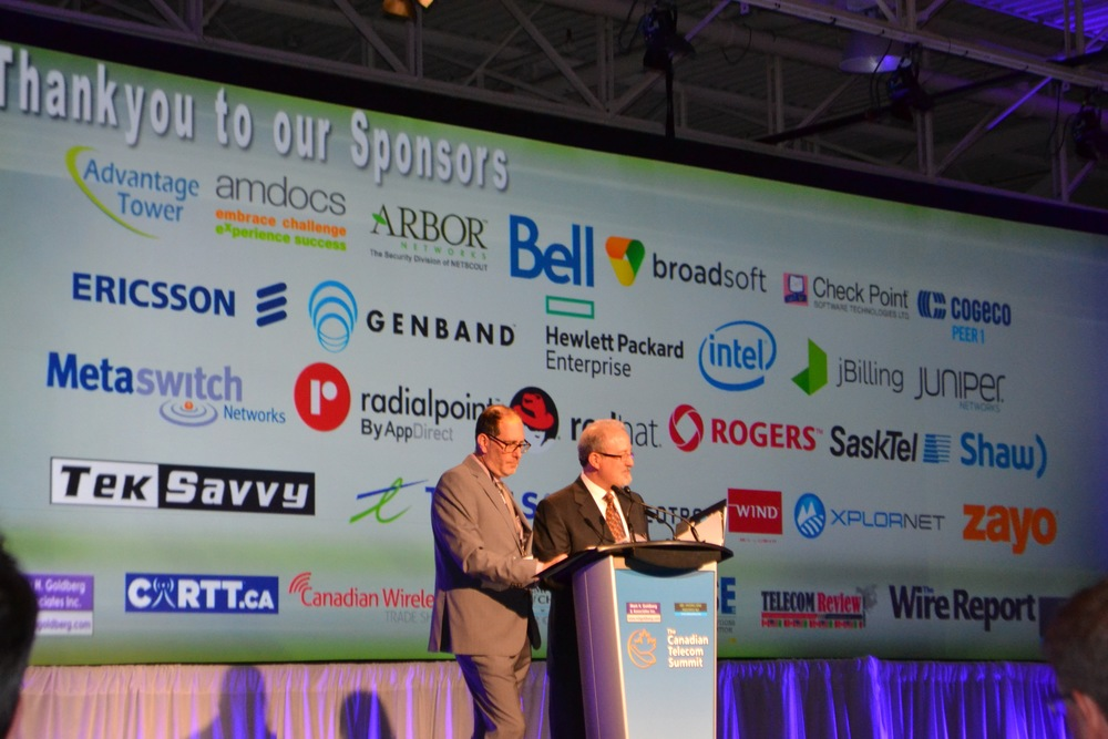 Advantage Tower Ltd. is a proud sponsor of the 2016 Canadian Telecom Summit. This year's Summit was held from June 6 to 8 in Toronto, Ontario at the Toronto Congress Centre.  Featured Left to Right: Michael Sone, Principal, NBI/Michael Sone Associates and Mark Goldberg, Principal, Mark H. Goldberg & Associates