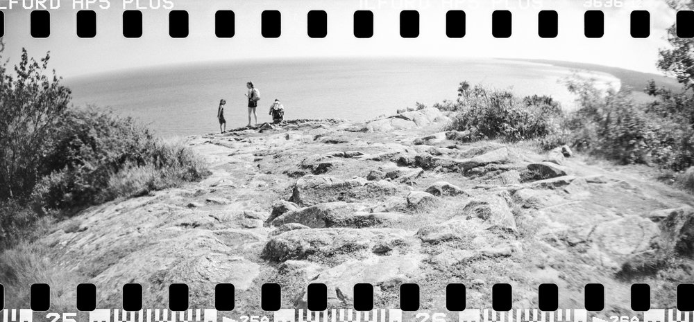 Österlen, August 2017 - Lomography Sprocket Rocket with Ilford HP5+ black and white film