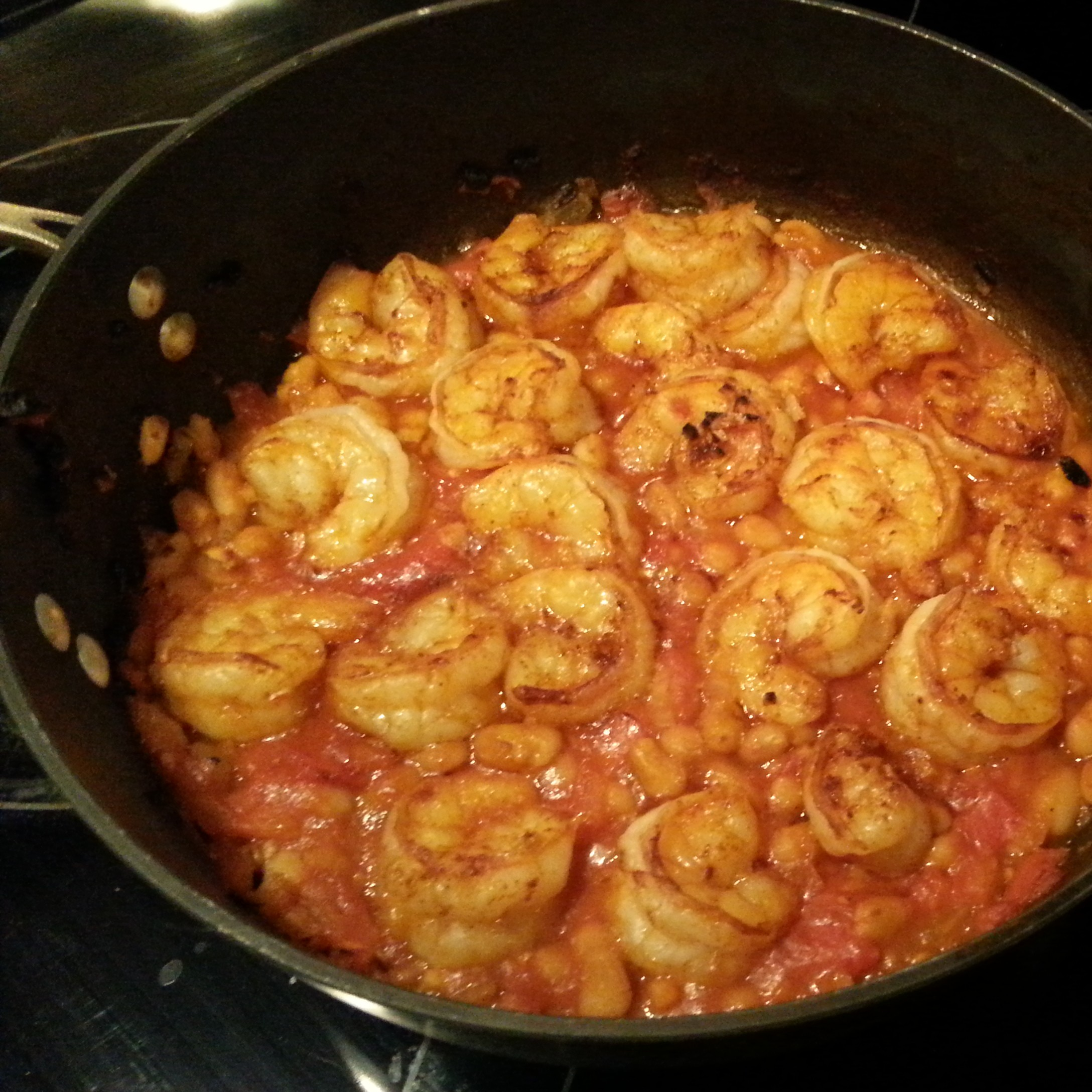 shrimp and white beans