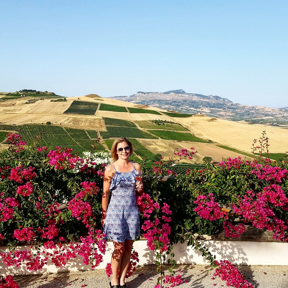 Sampling Grillo at Stemmari's Estate on Sicily.