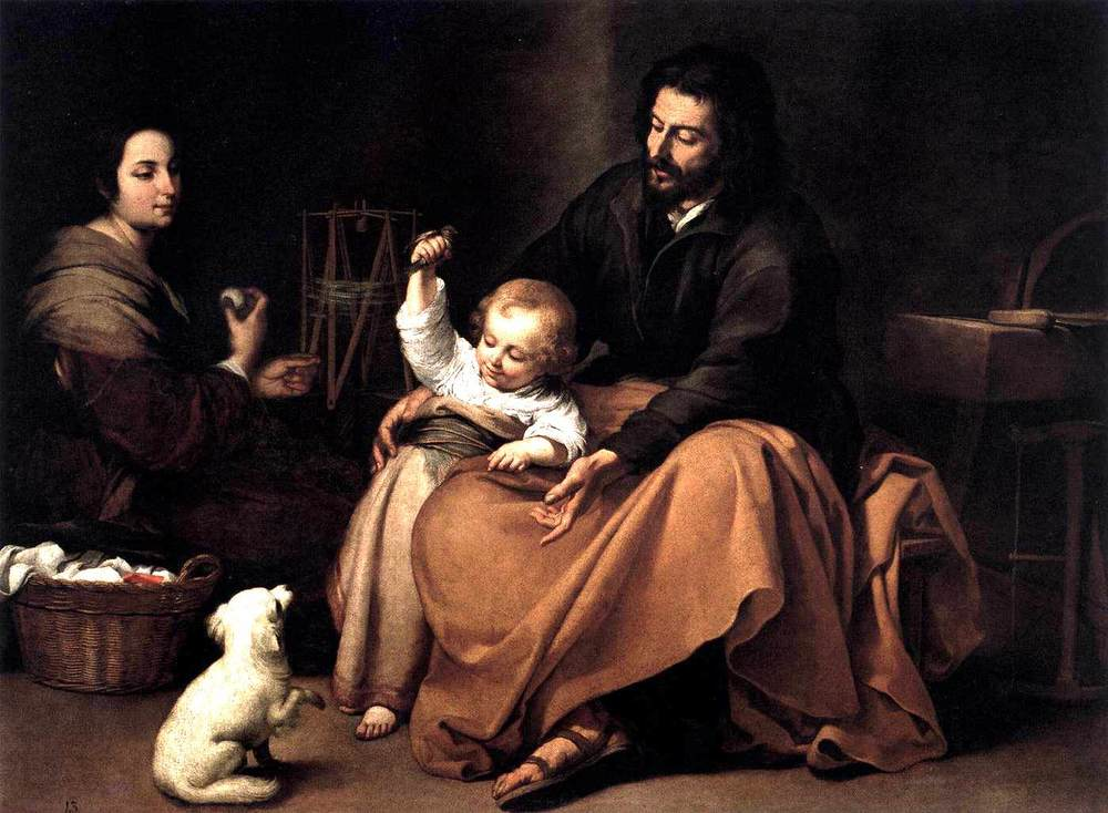 The Holy Family with the Little Bird by Bartolome Esteban Murillo ca. 1650