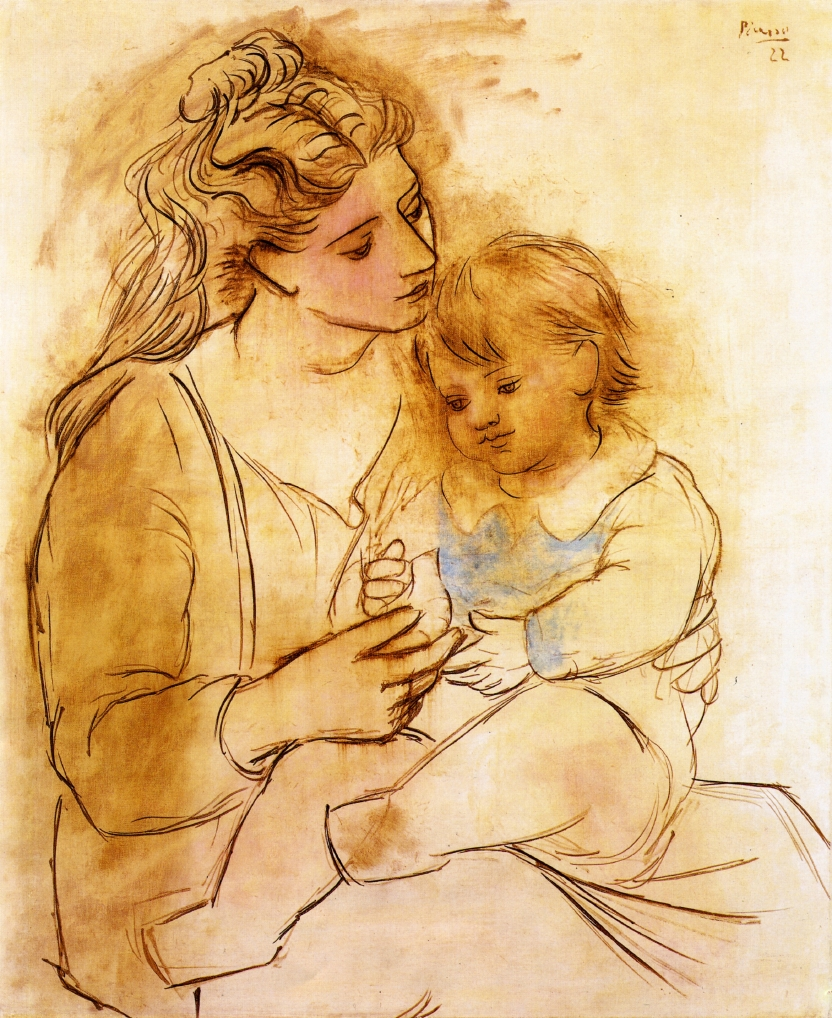 Picasso,Mother and Child, 1922