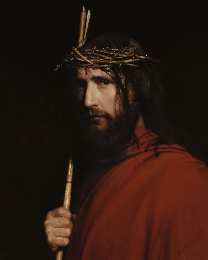 Christ with Thorns,Carl Bloch (1834-1890)
