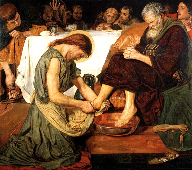 Ford Madox Brown, Jesus Washing Peter's Feet, 1856