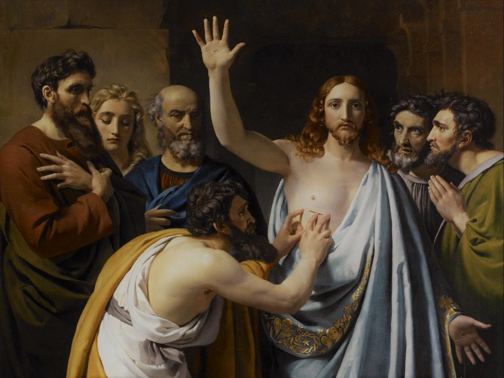 The Incredulity of Saint Thomas,  Francois-Joseph Navez, 1823.