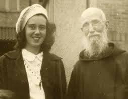 Fr. Solanus with B.J.'s aunt, Sr. Anne Herkenrath, SNJM.