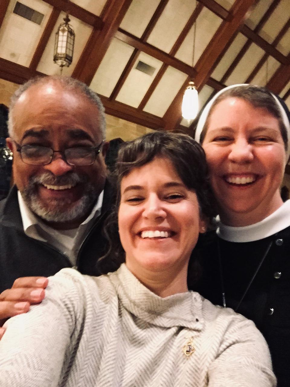 Deacon Art, Amy, and Sr. Virginia