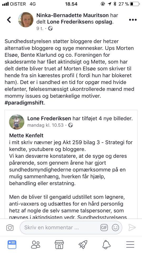 Se på den lyse side: jeg blev nævnt FØR Bente Klarlund! (Hun er sej.)