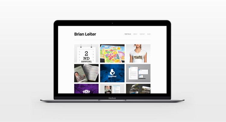 brian leiter creating an online graphic design portfolio
