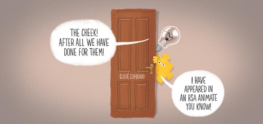Lightbulb cliche - illustration by Cognitive Media