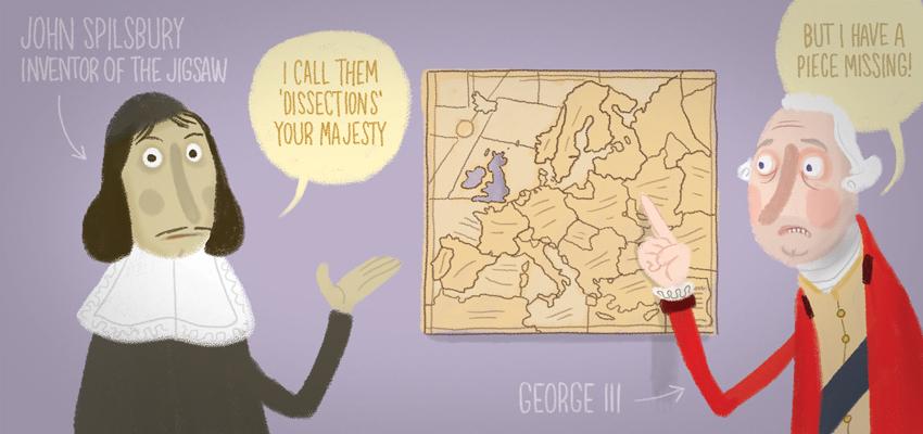 John Spilsbury, cartographer - illustration by Cognitive Media
